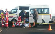 One person has been declared dead and four others are in a critical condition following a shootout on the N12 West before Daveyton on 20 September. Picture: ER24.