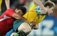 Australia back James O'Connor (R). Picture: AFP