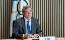 This handout picture taken and released on 24 February 2021, by the International Olympic Committee shows IOC president Thomas Bach attending an IOC Executive Board meeting in Lausanne. Picture: AFP