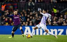 Lionel Messi in action during La Liga leaders Barcelona match against over Real Valladolid. Picture: @FCBarcelona/Twitter.