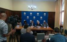 The DA held a press briefing on 4 December 2018 to announce its intentions to challenge Parliament's Joint Constitutional Review Committee report on land should it be passed in the National Assembly. Picture: @Our_DA/Twitter
