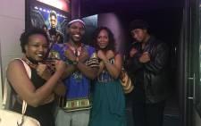 The Wakanda nation ('Black Panther' enthusiasts) at Rosebank Prestige Cinema. Picture: Refilwe Pitjeng/EWN.