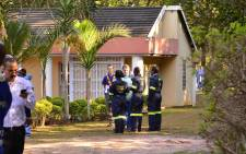 KwaZulu-Natal police at the scene of a drug lab in Kloof, Durban. Picture: Jeff Wicks/EWN.