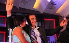 Deena Naidoo, South Africa's first MasterChef winner celebrates with his wife Kathy. Picture: Taurai Maduna/EWN