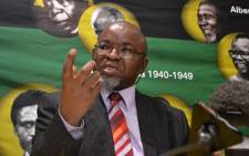 ANC Secretary General Gwede Mantashe at a post-NEC briefing. Picture: EWN