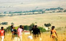 FILE:Teenage boys carrying food to their initiation school in Verena, Mpumalanga. Picture: Sapa.