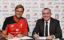 Liverpool's new manager Juergen Klopp (left). Picture: Liverpool Facebook page.