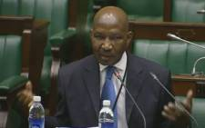 Screengrab of advocate Mhlaliseni Mthembu taking the assembly through his CV for the Public Protector position.