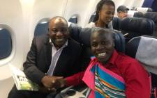 President Cyril Ramaphosa with praise poet Lutendo Evans Mugagadeli. Picture: Supplied
