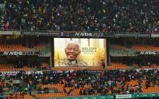 A memorial service for Nelson Mandela at the FNB Stadium in Soweto, Johannesburg on 10 December 2013. Picture: @prevpillay via Twitter.