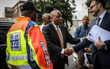 Joburg Mayor Herman Mashaba at Johannesburg Central Police Station on 12 December 2018 to lay criminal complaints against the former MMC of Finance Geoff Makhubo and former mayor Parks Tau. Picture: Abigail Javier/EWN