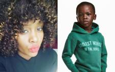 Terry Mango and son Liam Mango, who was featured in an H&M advert that has sparked outrage and anger. Picture: Facebook, H&M