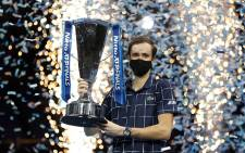 Daniil Medvedev Beat Dominic Thiem to win the ATP Finals title on 22 November 2020. Picture: @atptour/Twitter
