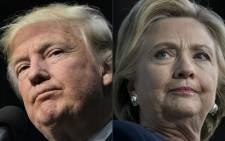 Republican presidential nominee Donald Trump and Democratic presidential nominee Hillary Clinton. Picture: AFP.