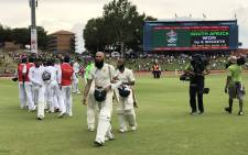 The Proteas beat Pakistan on day 3 of the first Test at SuperSport Park in Centurion on 29 December 2018. Picture: Twitter/@OfficialCSA