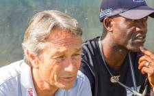 Mpumalanga Black Aces coach Mushin Ertugral and his assistant Patrick Mabedi. Picture: Mpumalanga Black Aces Facebook page.