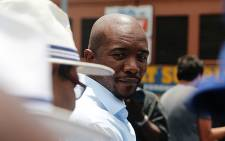 DA leader Mmusi Maimane ahead of his speech at the party's march against unemployment in Johannesburg on 27 January 2016. Picture: Reinart Toerien/EWN
