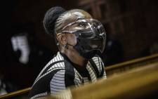 FILE: Public Protector Busisiwe Mkhwebane in the Pretoria Magistrates Court on 25 March 2021. Picture: Abigail Javier/Eyewitness News