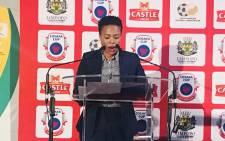 Former Limpopo Sport, Arts and Culture MEC Onicca Moloi. Picture: @MECOniccaMoloi/Twitter