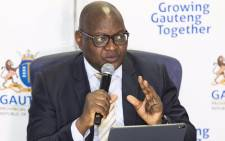 Gauteng Premier David Makhura at a media briefing on the coronavirus on 25 March 2020. Picture: @GautengProvince/Twitter