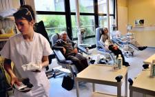 FILE: Patients undergo chemotherapy treatment at the Oscar Lambret Center in Lille, northern France. Picture: AFP