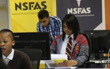 FILE: Pupils testing the NSFAS online application system. Picture: Supplied.
