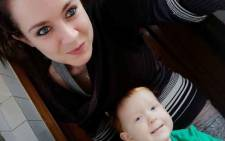 Estelle Lotter and her son, Caleb. Picture: Supplied.