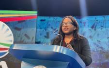 The DA's Head of Policy Gwen Ngwenya at the party's manifesto launch on 25 September 2021. Picture: @Our_DA/Twitter
