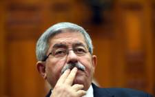 FILE: Former Algerian Prime Minister Ahmed Ouyahia attended a congress session in the capital Algiers on 4 September 2017. Picture: AFP