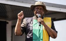 FIEL: ANC policy head Jeff Radebe at a party campaign in Katlehong. Picture: Abigail Javier/EWN