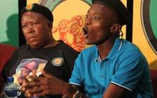 FILE: Former ANCYL leader Julius Malema (L) and Sindiso Magaqa (R). Picture: EWN