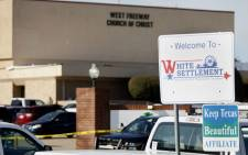 An exterior view of West Freeway Church of Christ where a shooting took place during services on 29 December 2019 in White Settlement, Texas. Picture: AFP