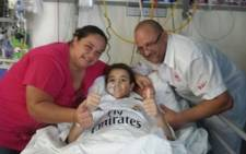 Soccer star Cristiano Ronaldo fulfilled the dreams of young cancer patient Keagan Herbst by sending him a personal video message and a signed shirt just days before he passed away in Durban.  Picture: Reach for a Dream.