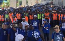 DA members marched to Gauteng Premier David Makhura's office on Wednesday 5 December 2018 to put pressure on him to scrap e-tolls in the province. Picture: @SollyMsimanga/Twitter