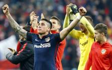 Atletico Madrid players celebrate their victory against Bayern Munich after reaching the finals of the Uefa Champions League on 3 May 2016. Picture: Atletico Madrid official Facebook page.
