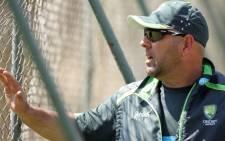FILE: Australian coach Darren Lehmann. Picture: AFP.