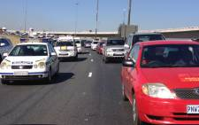 Cosatu's drive-slow against e-tolls on Joburg's east rand on 31 May 2013. Picture: Christa van der Walt/EWN