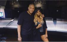 Candice Pillay and Dr Dre in the studio together. Picture: Instagram @CandicePillay