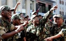 Members of the Umkhonto we Sizwe Military Veterans. Picture: EWN.