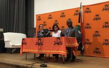 NPA head Shamila Batohi (centre) briefs the media on 1 February 2019. Picture: Kgomotso Modise/EWN.