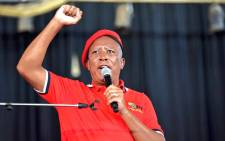 Economic Freedom Fighters leader Julius Malema delivered the keynote address at the party's Freedom Day rally in Atteridgeville, in Tshwane, on 27 April 2021. Picture: @EFFSouthAfrica/Twitter