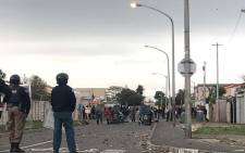 Parkwood residents battled with law enforcement officials who broke down their structures on 23 May 2018. Picture: Kaylynn Pam/EWN