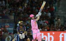 Rajasthan Royals bowler Steve Smith (front). Picture: Twitter/@rajasthanroyals.