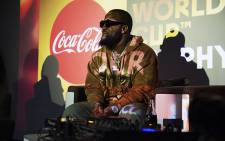 Cassper Nyovest at the coca-cola listening session for the Fifa 2018 World Cup anthem. Picture: Kayleen Morga/EWN