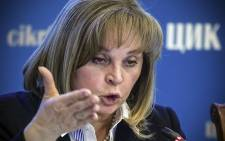 FILE: Head of Russia's Central Election Commission Ella Pamfilova. Picture: AFP