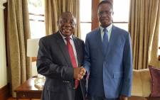 President Cyril Ramaphosa met with Zambian President Edgar Lungu at JL Dube House, the President's Durban residence on 9 January 2019. Picture: @PresidencyZA/Twitter