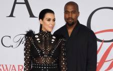 FILE: Kim Kardashian and husband Kanye West in June 2015 in New York City. Picture: Getty Images/AFP.