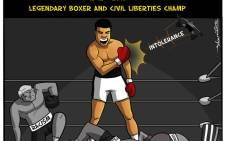 Dav & Curtis pay tribute to Muhammad Ali, who fought more just imposing boxing opponents in the ring. Ali will be remembered for his civil and political convictions.