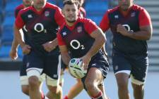 FILE. Danny Care runs with the ball during the England training session held at the AJ Bell Stadium on 8 October 2015 in Salford, England.