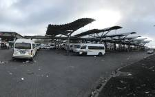 Abandoned taxis seen at the Bellville taxi rank on 6 August 2018, as a strike got underway in Cape Town. Picture: Cindy Archillies/EWN